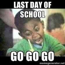 LAST DAY OF SCHOOL GO GO GO - Black kid coloring | Meme Generator via Relatably.com