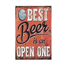 12x8 Inches <b>Beer</b> Theme <b>Vintage Metal</b> Sign <b>Tin</b> Poster Tavern Bar ...