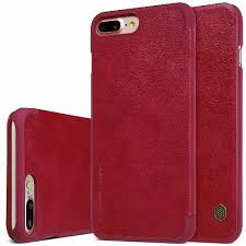 <b>Nillkin Qin</b> Flip <b>Leather Protective</b> Case for iPhone 7 Plus - Red ...