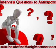 interview questions to anticipate how to the right career