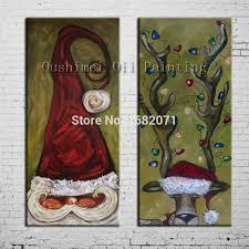 Free Shipping Superb Artist <b>100</b>%<b>Hand painted High Quality</b> Santa ...