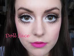 doll face big doll eyes pale skin freckles