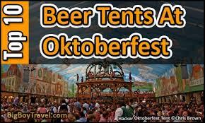 TOP 10 Best Oktoberfest Beer Tents in Munich - Wiesn Party & Drink