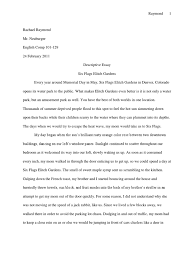 descriptive essay  six flags  nature