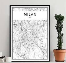 Online Shop <b>Black White World City</b> Map Poster Nordic Living Room ...