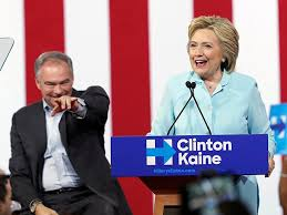 Image result for kaine and hillary