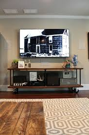 how to build an industrial console table custom diy for your tv build industrial furniture