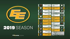 Schedule - Edmonton Eskimos
