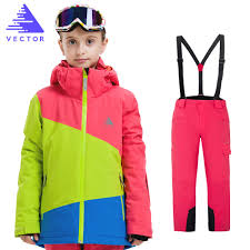 VECTOR <b>Boys Girls Ski</b> Sets <b>Winter</b> Waterproof Windproof <b>Kids Ski</b> ...