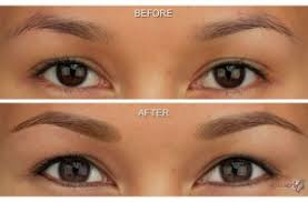 before and after photos of microart semi permanent makeup for eyebrows eyeliner before