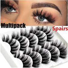 (Ready Stock)<b>5PairS 3D Mink</b> Lashes Long Thicken Curl False ...
