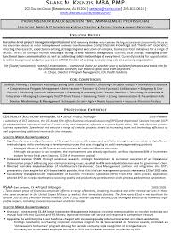 senior project manager sample resume