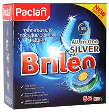 Таблетки для посудомоечной машины <b>Paclan</b> brileo all in one ...