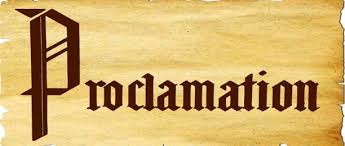 「proclamation」の画像検索結果
