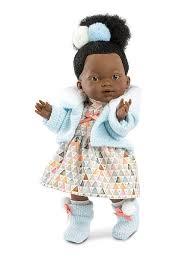 <b>Кукла Валерия африканка</b> 28 см <b>Llorens</b> 6410331 в интернет ...