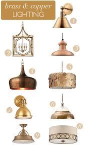 brass copper lighting via megan brooke handmade brass lighting fixtures