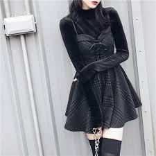 Ruibbit <b>New Spring Autumn</b> Women gray Plaid Pleated Dress Sling ...