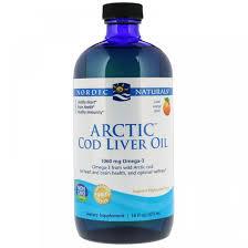 Nordic Naturals <b>Arctic</b> Cod Liver Oil 16 fl oz (473 ml) Orange Рыбий ...