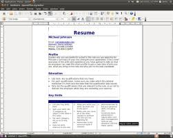 resume wizard resume badak resume template openoffice