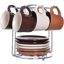 «<b>Набор</b> на <b>подставке</b> ЗАО Мир посуды ТВК 6 чашек и 6 блюдец ...