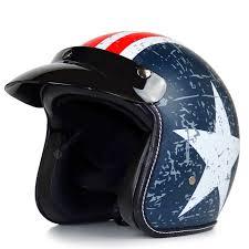 Retro Motorcycle Helmet Men Sunscreen Locomotive Half Helmet ...