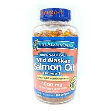 Pure Alaska Omega-3 <b>Wild Alaskan Salmon Oil</b> 1000mg Softgels ...