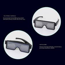 Esho - 8 Modes <b>LED Glow Glasses Light</b> Up Clubbing Party ...