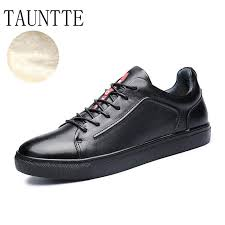 Tauntte Korean Breathable Men Genuine Leather Shoes Fashion ...