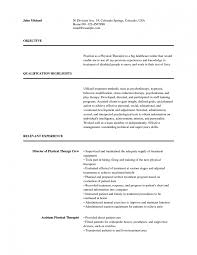 physical therapist assistant resume examples occupational occupational therapy resume sample resume cover letter exles school based occupational therapy resume sample pediatric occupational