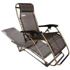 comfortable patio chairs aluminum chair: brown champagne adjustable recliner lounge chair for outdoor patio