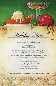 Image result for holiday dinner menu