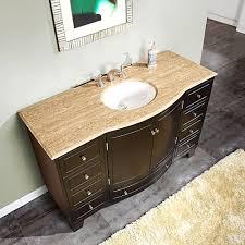 silkroad exclusive bathroom vanity travertine top