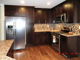 Laminate Flooring Kitchener Kitchen Dark Kitchens With Wood And Black Cabis Archaiccomely