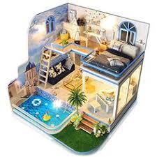 <b>CUTEBEE Dollhouse</b> Miniature with <b>Furniture</b> DIY <b>DollHouse</b> Kit ...
