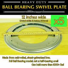 <b>5 pcs</b> - <b>12 inch</b> (305mm) Full Ball Bearing Swivel Plate Lazy Susan ...