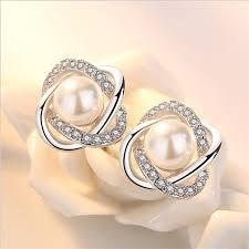 <b>TJP</b> Pure 925 Sterling Silver Earrings For Women <b>Jewelry</b> Charm ...
