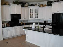 Black White Kitchen Designs White Kitchen Cabinets With Black Countertop Outofhome