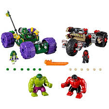 LEGO Marvel Super Heroes Hulk vs. Red Hulk 76078 ... - Amazon.com