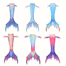 New Kids Girls Boys <b>Women Mermaid</b> Tail <b>Monofin</b> Swimmable ...