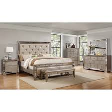 ava panel 5 piece bedroom set bedroom set light wood vera