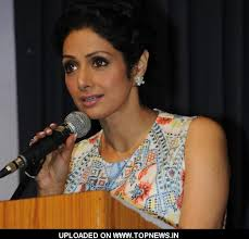 Bollywood actress Sridevi during the book launch of Sarita Davare and Sanjeev Kapoor new book Live Well Diet in Mumbai on May 3, 2013. (Photo: IANS) - sridevi7_2