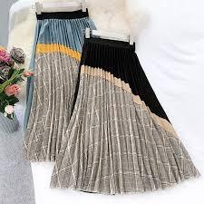 Wasteheart <b>Autumn Winter</b> Khaki <b>Black</b> Women Skirt High Waist A ...