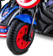 <b>Kid</b> Trax 12-Volt Captain America <b>Motorcycle</b> Ride-On - Walmart.com