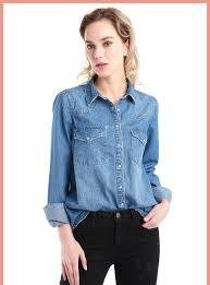 11.11 <b>Autumn Winter Women</b> Denim Basic Shirt <b>Loose</b> Casual Long ...