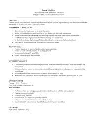 car resume objective car s associate job description resume sample resume resume template objective automotive mechanic position