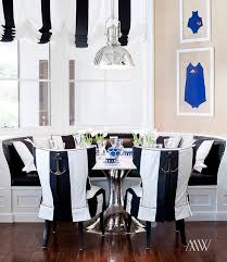black and white dining table set: black and white breakfast nook view full size