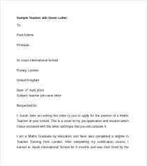 teacher cover letter template     download free documents in wordsample teacher job cover letter template