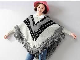 Poncho <b>European American</b> New <b>Sweater</b> Women Loose Bat ...