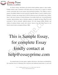 handling alcoholic patients essay sample