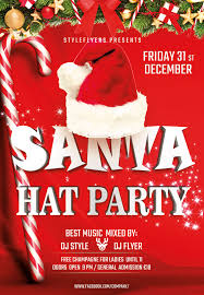 flyers as a promotion tool psd templates santa hat party
